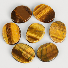 7pcs/Pack Big Size Natural Tiger Eye Chakra Minerals Crystal Palm Massage Energy Stone SPA Reiki Healing Jade Massager Health