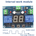 Интегрированный интервал 0-99 С/мин, двойной отдельный выход, Круглый интервал 0-99/мин, рабочий модуль, 12 в 100-240 В