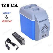 12 В 7.5L ABS портативный автомобильный мини-холодильник Авто Путешествия Холодильник многофункциональный домашний кулер Морозилка-подогреватель