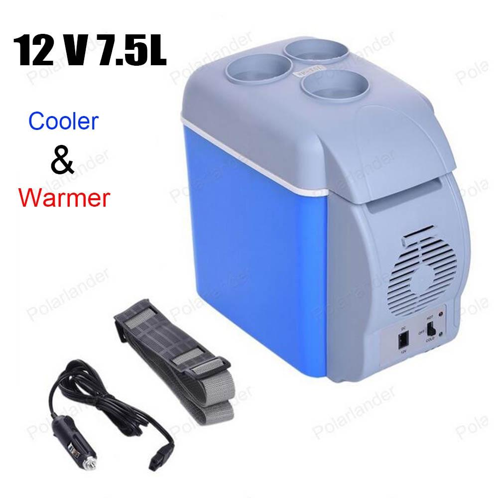 12V 7.5L ABS Portable Car Mini Fridge Auto Travel Refrigerator Multi-Function Home Cooler Freezer Warmer