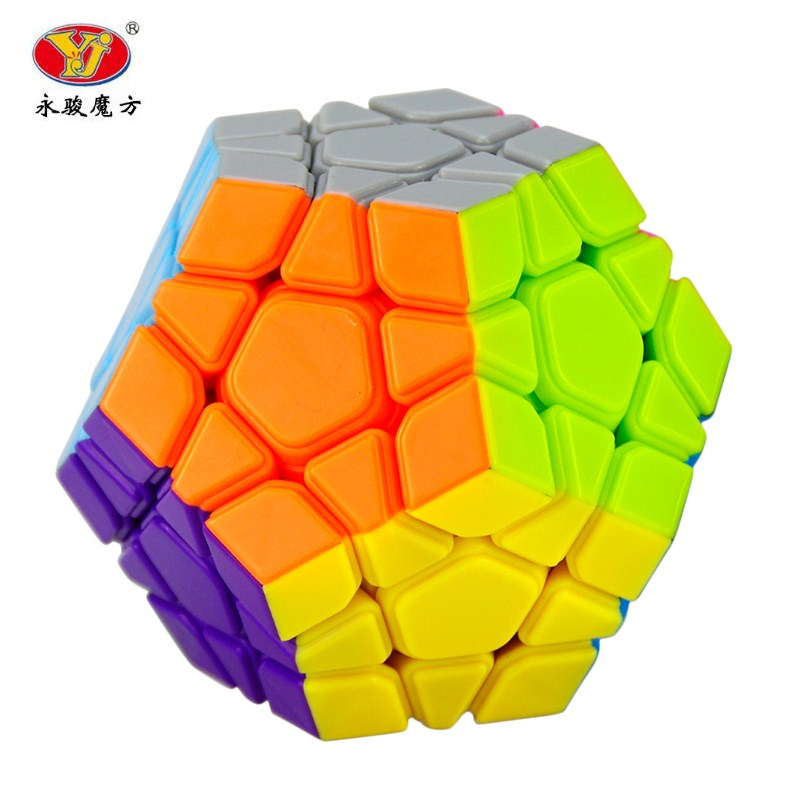 YJ Yongjun MoYu Yuhu Megaminx Magic Cube Speed Puzzle Cubes Kids Toys Educational Toy 83mm black and white grid curve7x7x7 speed magic cubes puzzle game educational toys for kids children baby