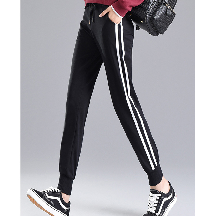 Women's Pants For Spring Summer 2019 Casual Striped Trousers Harajuku Women Pant Harem Sportswear Streetwear Joggers Sweatpants