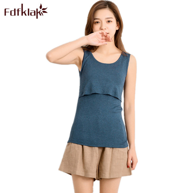 d182b502ce31bd Fdfklak 2018 Summer Modal Sleeveless Nursing Top Medela Breastfeeding  Maternity Goods Care Nursing Tank Pregnancy Clothes F117
