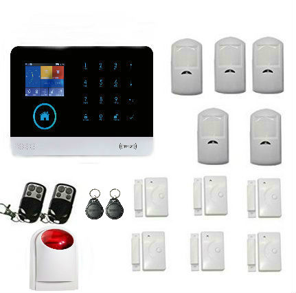 Yobang Security WiFi Internet GSM GPRS SMS Home Alarm System Security Kit GSM alarm system with Spanish/French image