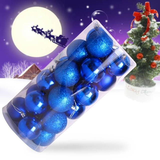 Bunte Christbaumkugeln Kunststoff.Us 4 36 28 Off 24 Stücke Weihnachtsbaum 4 Cm Kunststoff Helle Bälle Heißer Blau Bunte Weihnachtskugeln Christbaumkugeln Party Dekorationen Hause