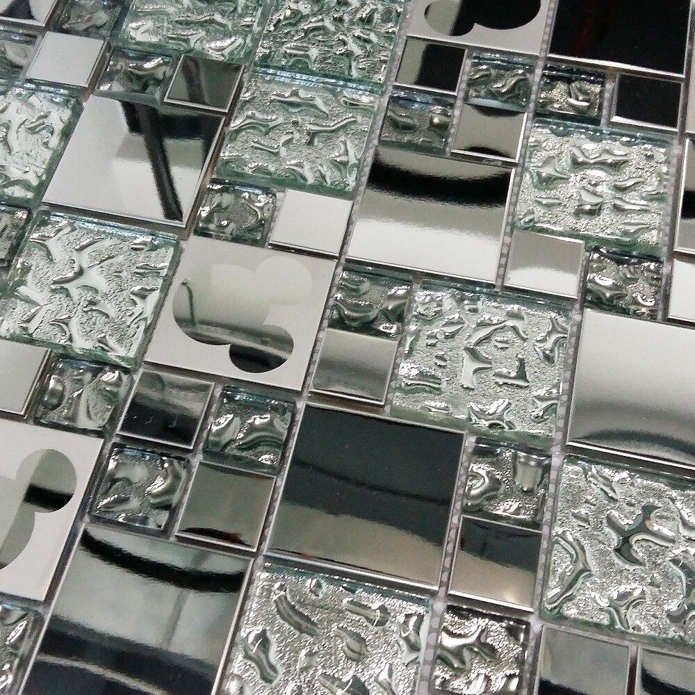 Azulejos De Mosaico De Vidrio Al Azar Mickey Mouse Patr N De  ~ Mosaicos De Azulejos En Paredes