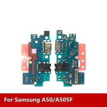 Новый usb порт для зарядки док станции + микрофон для Samsung A50/A505F, аудиоразъем для наушников, общий зарядный модуль, интерфейс передачи данных