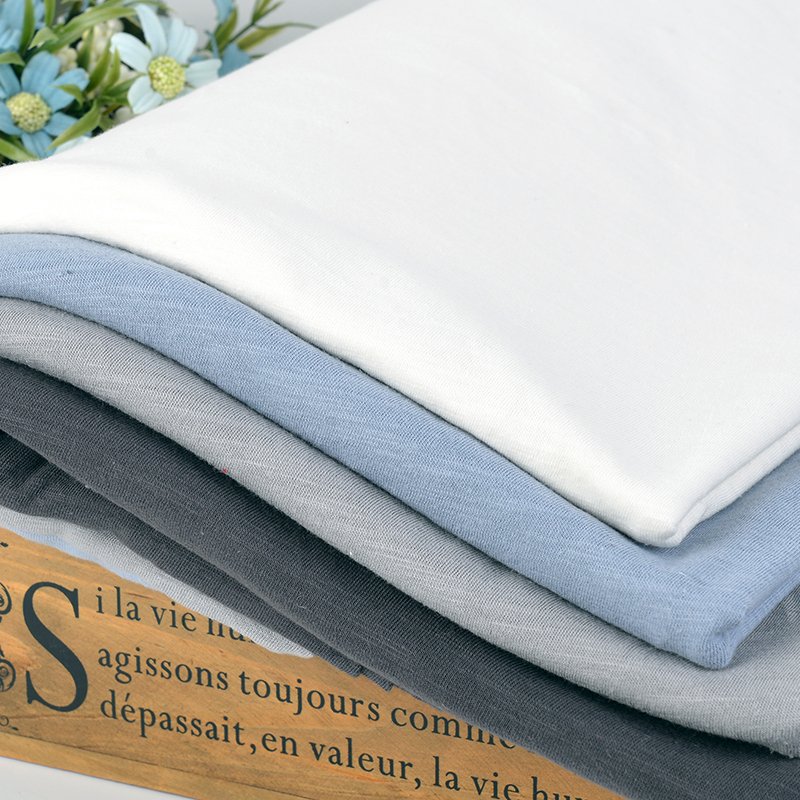 32s combed cotton slub jersey fabric 140gsm for t shirt and cardigans Summer 50*160cm K302631