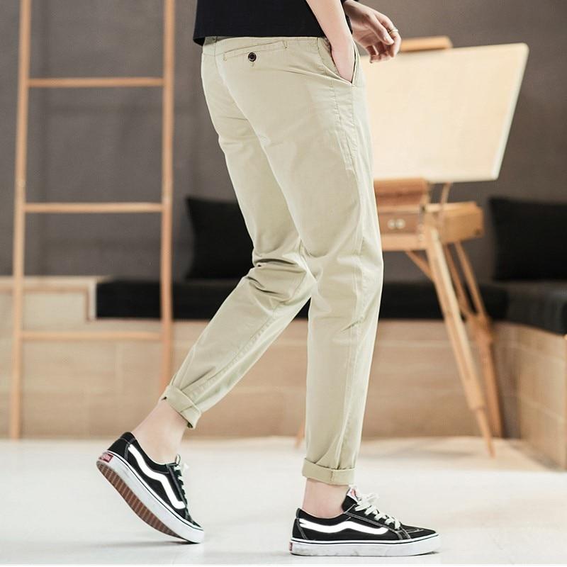 Мужские повседневные брюки 2019 Весна Новые прямые простой узкая нога свободные штаны Европейский Стиль подходит для вечерние работа путешествия знакомства - 3