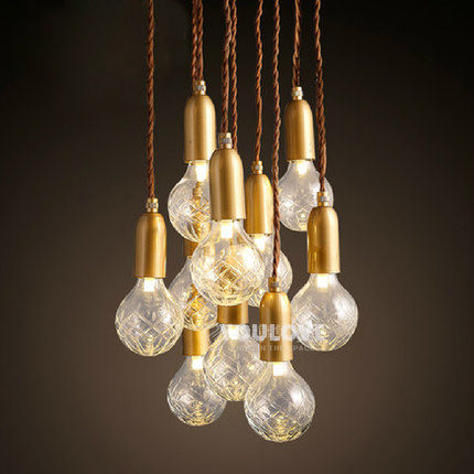 Modern Multi Bulbs Droplights Nordic Home Indoor Lighting Dining Room Restaurant Cafes Pendant Lights Pub