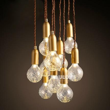 Modern Multi Bulbs Droplights Nordic Home Indoor Lighting Dining Room Restaurant Cafes Pendant Lights Pub