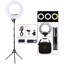 18 inches/48 centimeters Outer 55W 5500K Dimmable LED Ring Light, Light Stand for Smartphone,Youtube   Photography Studio