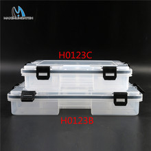 Maximumcatch Brand 22*16.5*5cm/28*18*5cm Transparent Plastic 5-11 Compartments Fly Fishing Box Fishing Tackle Box