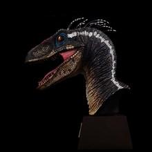 ITOY tüy Velociraptor Jurassic dinozor kafası heykel sınırlı sayıda