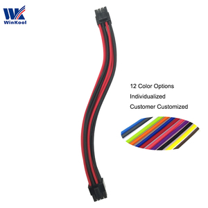 WinKool Multi-color Options Individually CPU 8Pin Male Type 3/4 Sleeved Cable For Corsair PSU All AXi HXi RMi RMx RM SF Series(China)