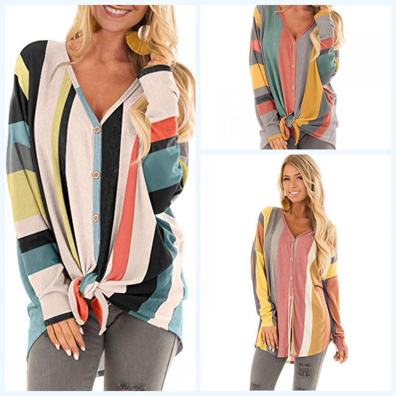 5f3f6568c4 2018 Women Sweater Loose Long Sleeve Multicolor Cardigan Casual Patchwork  Knitted sweater Autumn Cotton Top Thin Sweaters Sueter-in Cardigans from  Women s ...
