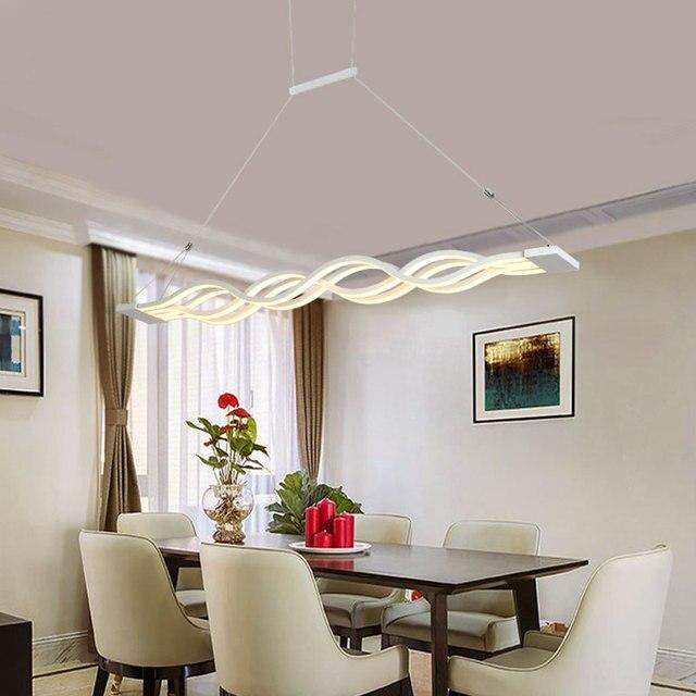 Moderne Led Hanglampen Eetkamer Woonkamer AC90 260V Acryl