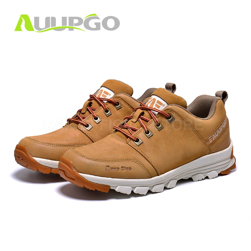 Men Hiking Shoes Waterproof Hiking Boots For Men Genuine Leather Hiking Shoes Breathable Mountain Walking Climbing Shoes Man kelme 2016 new children sport running shoes football boots synthetic leather broken nail kids skid wearable shoes breathable 49