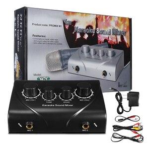Image 5 - LEORY カラオケサウンドミキサープロオーディオシステムデュアルマイク入力ポータブルミニデジタルカラオケマシンミキサー家族 KTV