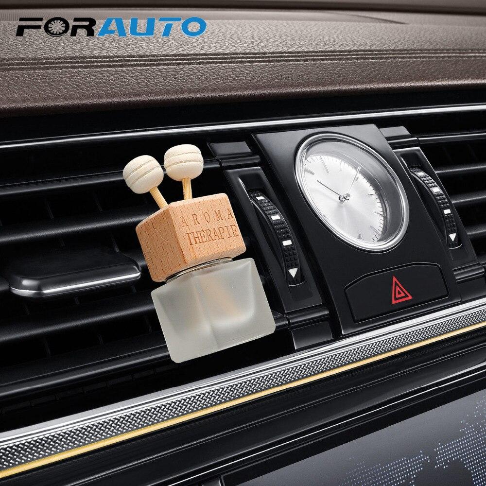 FORAUTO Air Freshener Ornament Perfume Bottle Pendant Essential Oils Auto Car Perfume Bottle Hanging Glass Bottle Car-styling driving