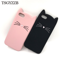 Phone Cases For Huawei Y5 2018 Cover Coque Shockproof Back Soft Silicone 3D Beard Cat Rubber Case For Huawei Y5 Prime 2018 Funda