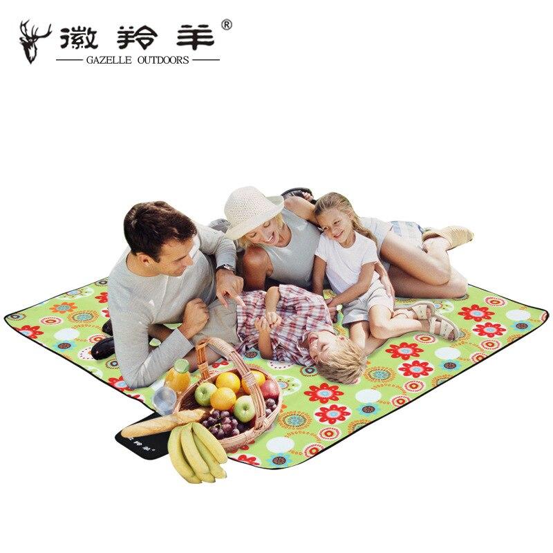 Tapis de pique-nique imperméable à l'eau GAZELLE pliant tapis de Camping Portable tapis de plage en plein air Camping tapis de plage multijoueur bébé ramper couverture