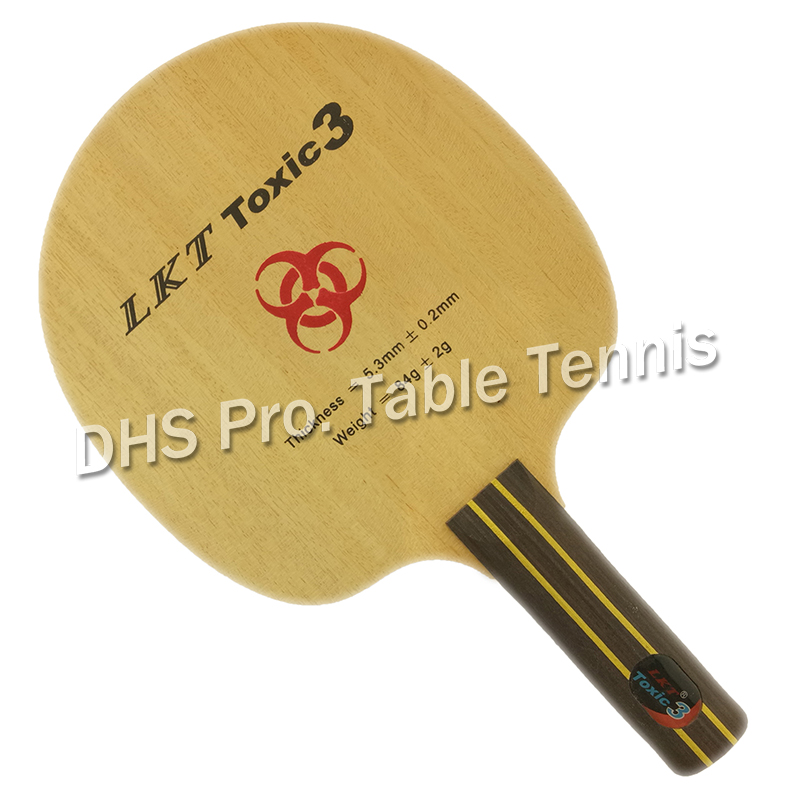 LKT Toxic3 Straight Handle ST Chop Type Table Tennis Blade