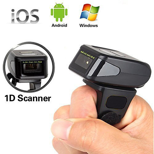 Yanzeo R1800 Portable Bluetooth Wearable Ring Finger Scanner Mini 1D Wireless Barcode Scanner in Scanners from Computer Office