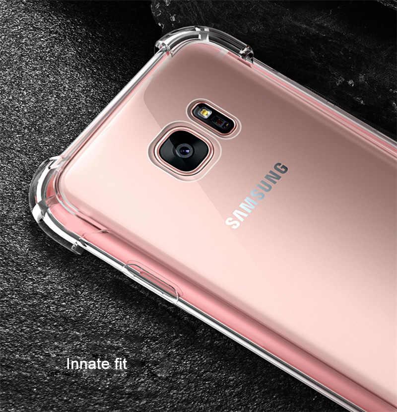 A prueba de golpes a prueba claro caso de teléfono para Samsung Galaxy J7 Neo J701 SM-J701F J7 NXT J1 J3 J5 J7 2015 de silicona 2016 suave cubierta posterior