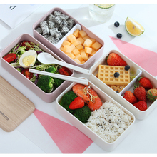 New 2 Layer Microwave Lunch Box Imitation wood Bento Kids Food Container Storage Portable Picnic With Bag 1200ml