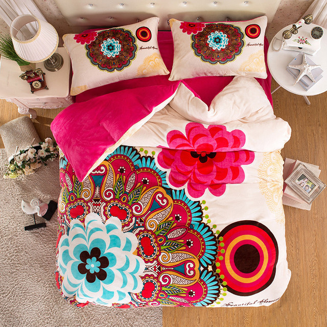 Winter Warm Bohemian Quilts Tropical Bedding Sets Childrens Bed Sheets  Vintage Bedspread Bed Linen Awesome Duvet