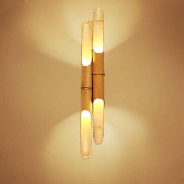 Pendant Lamps Bamboo Wall Lamp Modern Led Antique Teahouse Restaurant Aisle Light