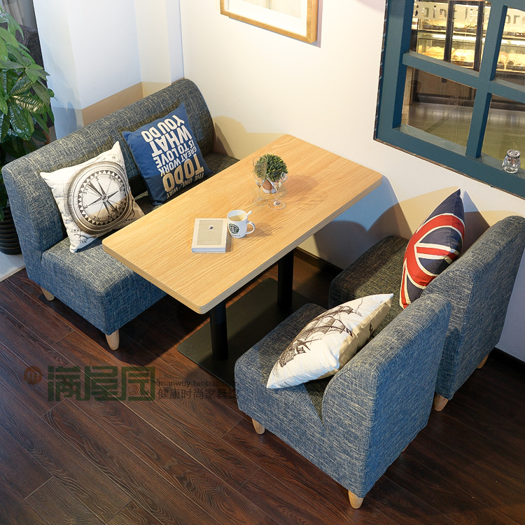 Factory Outlet Tea Shop Cafe Tables And Chairs Sofa Sofa