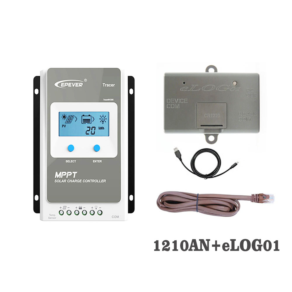 1210AN eLOG01 Real-time working data record function Tracer1210AN 10A MPPT Solar Charge Controller Regulator charger battery1210AN eLOG01 Real-time working data record function Tracer1210AN 10A MPPT Solar Charge Controller Regulator charger battery