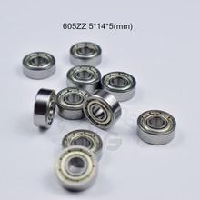 605ZZ 5*14*5(mm)  10pieces bearing free shipping ABEC-5 metal Sealed chrome steel bearings hardware Transmission Parts