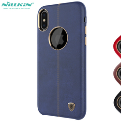 For Iphone10 iphonex Business Style guard Cover Nillkin Englon pu leather case for iphone x luxury bumper cover