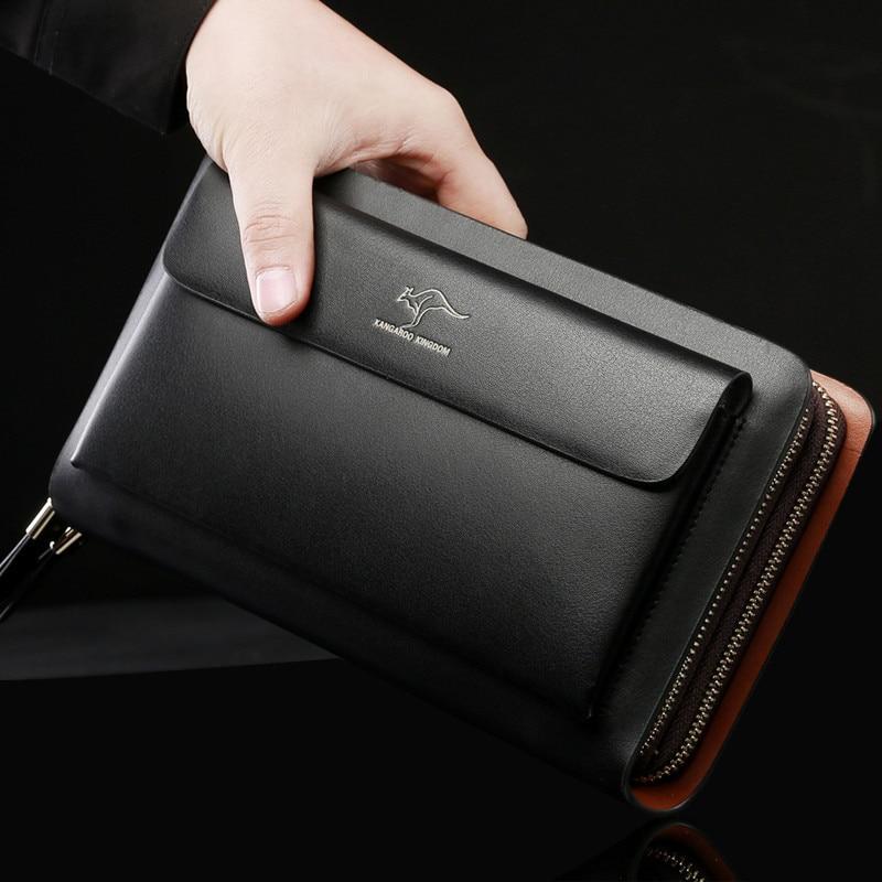 Kangaroo Kingdom Luxury Designer Brand Handbags Split Leather Capacity Men Clutch Bags Business Hand Bag For Man On Aliexpress Alibaba Group