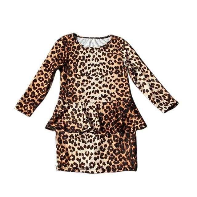 707f23eaac2e Child 3-10Y Girls Cute Fashion Baby Kids Leopard Print Mini Short Dress  Party Casual Dress