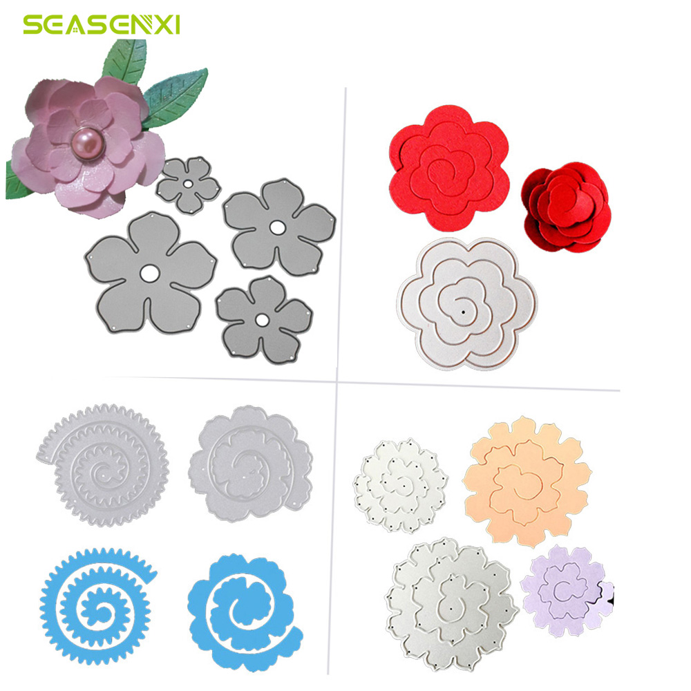 Flowers Trees Leaves Metal Cutting Dies For Diy Scrapbooking Plant Stamp Steel Embossing Craft Greeting Cards New 2018 Sales Of Quality Assurance Electronic Components & Supplies