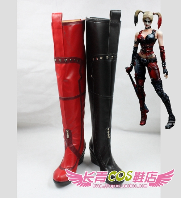 c8cbbb013544 Batman Harley Quinn cosplay shoes boots Custom Made 2381-in Shoes ...