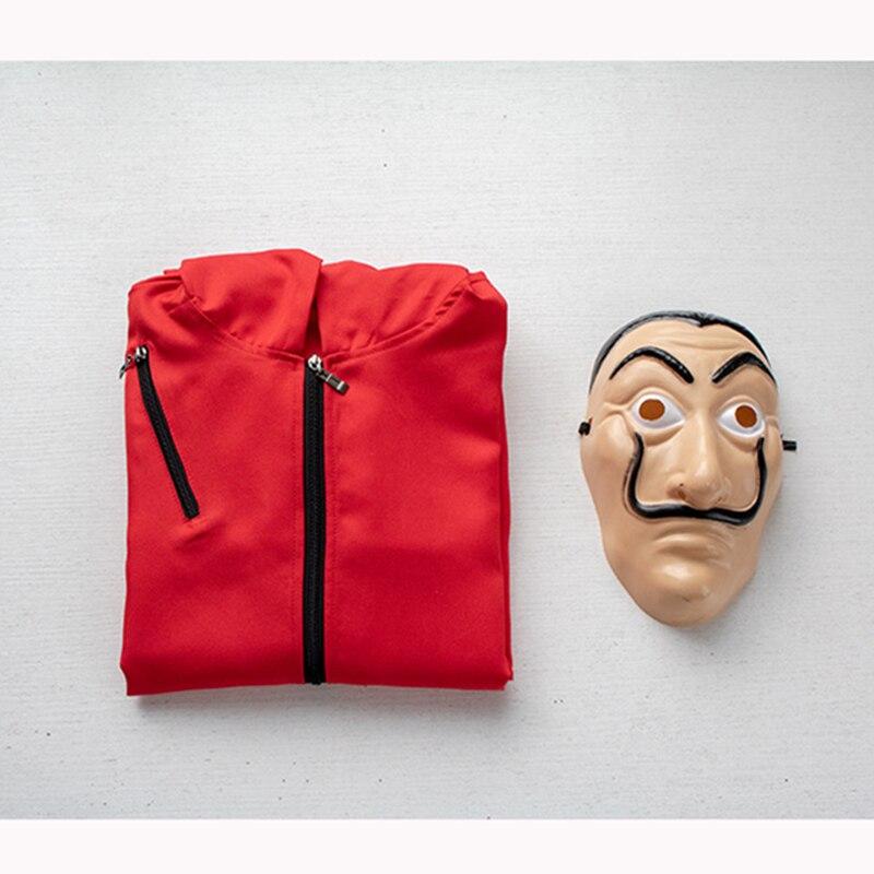 Festa de halloween salvador dali cosplay traje máscara de filme dinheiro assalto a casa de papel la casa de papel cosplay máscara facial