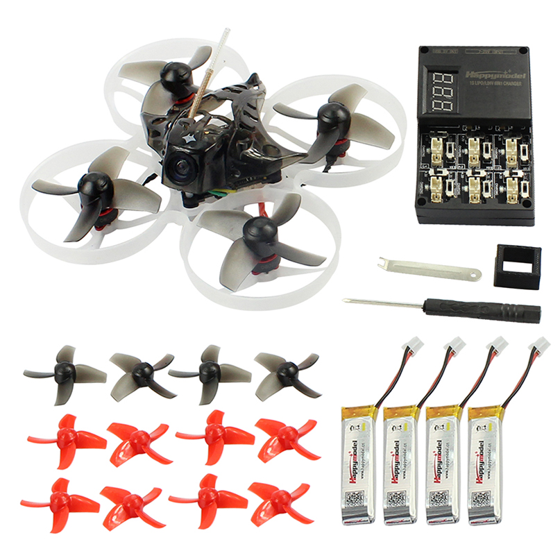 Happymodel Mobula7 75mm Crazybee F3 Pro OSD 2 s BWhoop Corrida Drone Quadcopter FPV w/Upgrade BB2 ESC 700TVL BNF Compatível Frsky