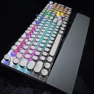 Image 4 - AULA الميكانيكية الألعاب لوحة المفاتيح ريترو Steampunk LED الخلفية 104 مفاتيح مقاوم للماء ل جهاز كمبيوتر شخصي محمول لعبة Gamer Kyeboard