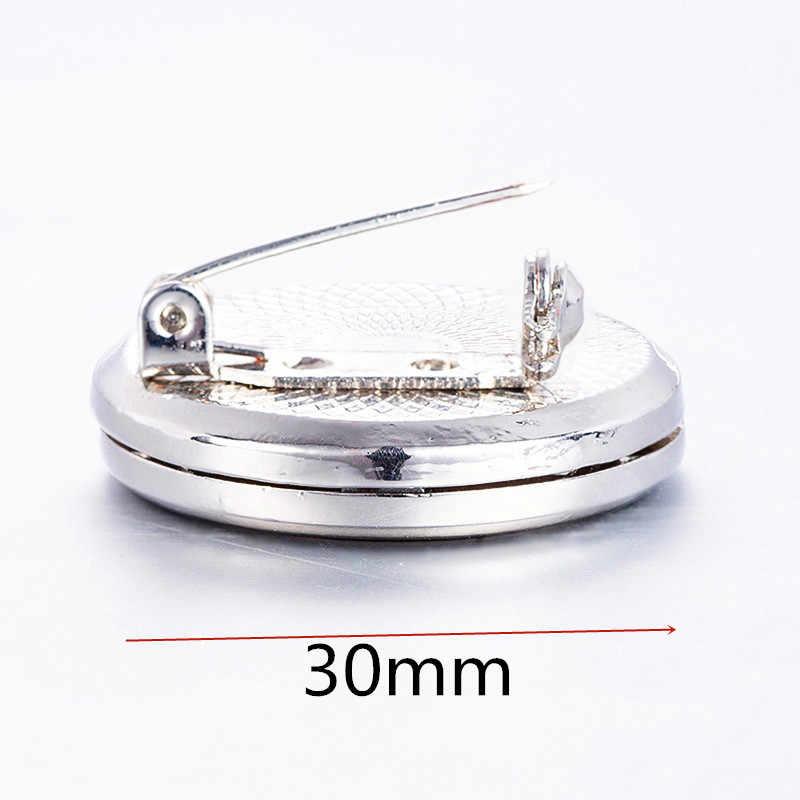 נירוסטה סיכת בושם חיוני שמן disperser פתוח 30mm קטן תיבת סיכת ארומה מפזר תכשיטי מתנה 1 כרית P40