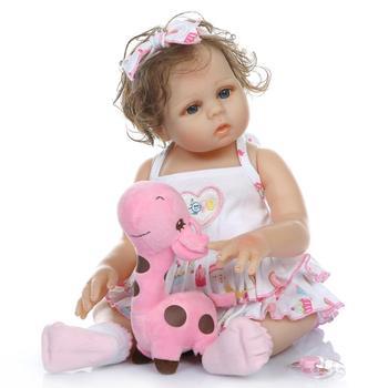 Bebe reborn 48cm corpo inteiro de silicone reborn baby girl doll toys for children gift boneca reborn lol doll