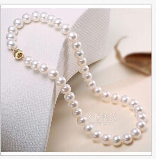 Classic10-11mm dacqua dolce rotondo bianco perla collana 18 925 argentoClassic10-11mm dacqua dolce rotondo bianco perla collana 18 925 argento