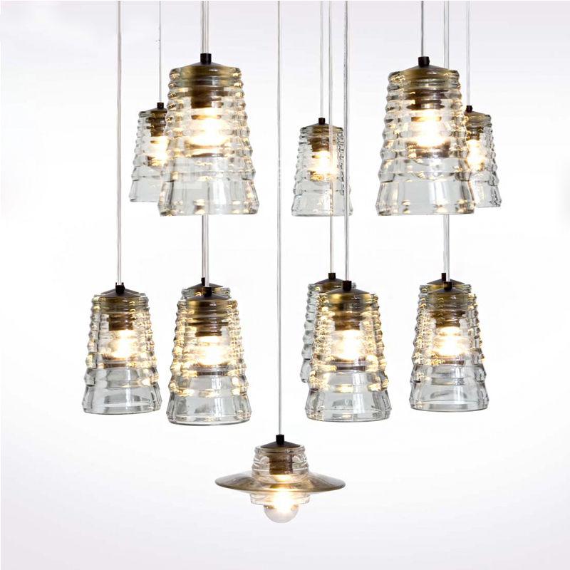 Modern E27 LED Iron Crystal Glass Lamp Chandelier Ceiling Light Droplight Fixtures Home Reading Living Room Corridor Loft Decor