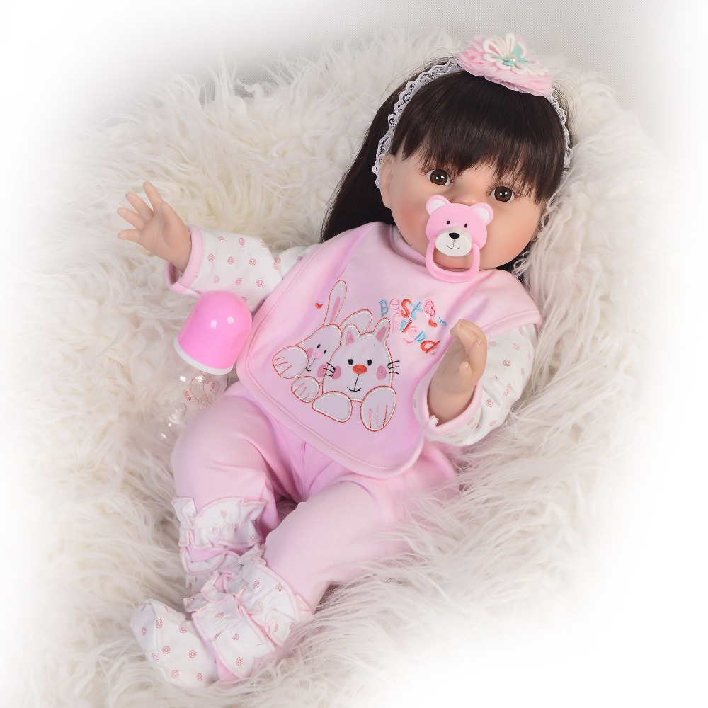 22inch 55cm Silicone Reborn adorable Doll Toys simulation collection  Princess Babies white skin Birthday Gift Present for sale22inch 55cm Silicone Reborn adorable Doll Toys simulation collection  Princess Babies white skin Birthday Gift Present for sale