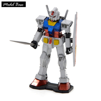 3D Puzzle Metal Diy Adult Stainless Steel Pure Metal Puzzles GUNDAM Gundam Up Kids Games Assembly