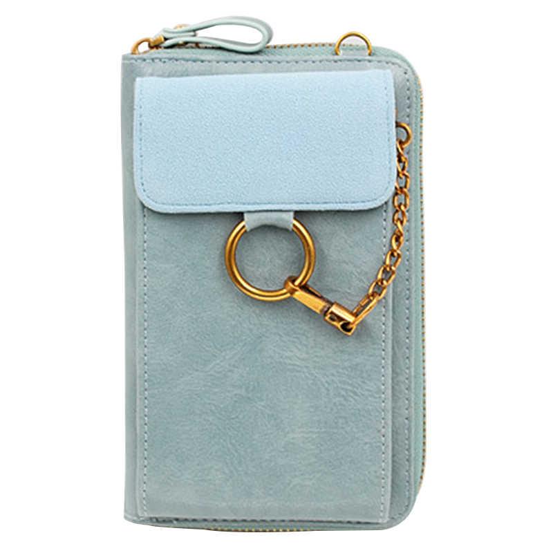 2019 femmes élégantes petits sacs à bandoulière solide couleur rabat solide moraillon téléphone sac en cuir PU sac à bandoulière décontracté dame sacs de messager